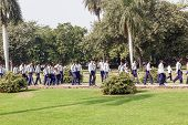School Class Visits Humayun's Tomb In Delhi