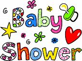 Baby Shower Cartoon Text Clipart