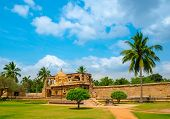 stock photo of chola  - view of the ancient Gangaikonda Cholapuram Temple dedicated to Shiva Thanjavur  - JPG