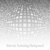 Abstract Gray - White Technology Background