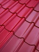 Colored Tin Roof Structure