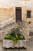 Colorful Flower Box And Stairs
