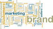 Brand Marketing Wordcloud poster