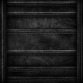 black leather with stitch background