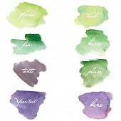 Watercolor grunge  spots.  Vector banners for your design.