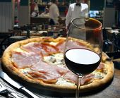 stock photo of hot fresh pizza  - Pizza - JPG