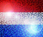 Brillante bandera de Países Bajos