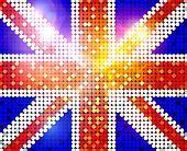 Brillante bandera del Reino Unido