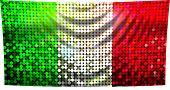Brillante bandera de Italia