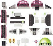 City map creation kit (DIY). Part 8. Transportation elements