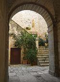 Ancient arch. Giovinazzo. Apulia.