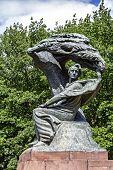 Monument To Chopin In Warsaw's Lazienki, Poland