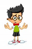 Geek Boy Cartoon character