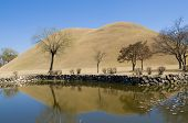 Reflected Korean Burial Mounds