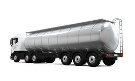 picture of fuel tanker  - Fuel Tanker Truck isolated on white background - JPG