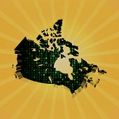 Canada sunburst map with hex code illustration