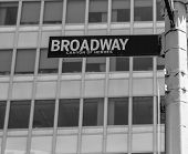 Broadway street sign Lower Manhattan New York City NYC USA
