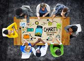 People Discussion Meeting Give Help Donate Charity Concept
