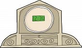 Lcd Antique Clock