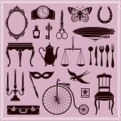 Design Elements Vintage Objects And Icons Set 2