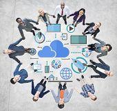 Big Data Sharing Online Global Communication Teamwork Concept