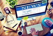 Digital Online Global News Update Concept