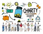 People Digital Devices Give Help Donate Charity Concept