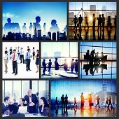 Business People Interaction Meeting Team Working Together Concept