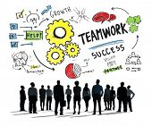 Teamwork Team Together Collaboration Business Aspiration Goals Concept