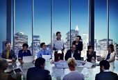 Business People Meeting Corporate Presentation Office Working Concept