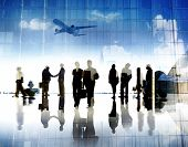 Business People Corporate Airport Terminal Travel Concept
