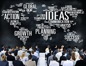 stock photo of seminars  - Global Business People Conference Seminar Ideas Concept - JPG