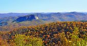 Autumn colors at Looking Glass Rock in the Smoky Mountains