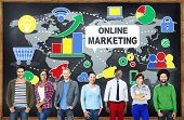 Online Marketing Business Global Concept