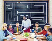 Maze Puzzle Challenge Direction Concept