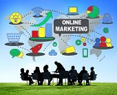 Online Marketing Business Global Concept