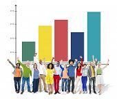 Bar Graph Growth Success Concept