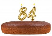 Birthday Cake Candles Number 84 Isolated