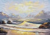 Original Oil Painting On Canvas - Landscape Of The Ocean