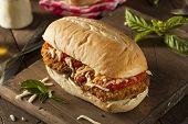 Hearty Homemade Chicken Parmesan Sandwich