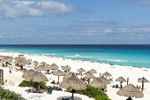 A view of Playa Delfines in Cancun, Yucatan, Mexico.