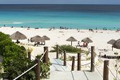 picture of yucatan  - A view of Playa Delfines in Cancun - JPG