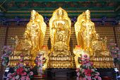 Gold Buddha And Kuan Modeling Chinese Style