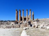 Roman Temple In The City Of Jerash