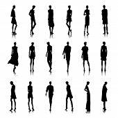 Set Of Bald Women
