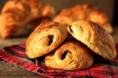 French pastry name pain au chocolate.