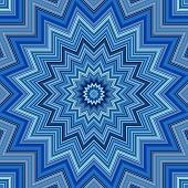 Blue colors kaleidoscope pattern illustration
