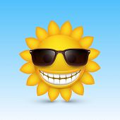 Smiley sun glasses. Vector
