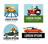 car vector logo design template. tractor or  transport icon.