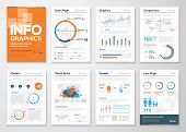 Big set of infographic elements in modern flat business style